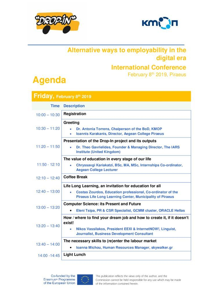 thumbnail of Agenda_Conference _DropIn_2019_ΕΝ